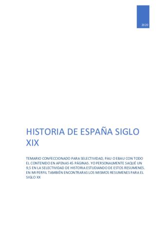 Wuolah Descarga Historia De Espana Siglo Xix Pdf Apuntes De Historia De España